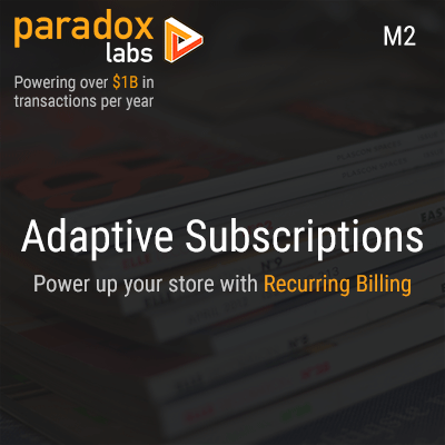 Adaptive Subscriptions for Magento 2