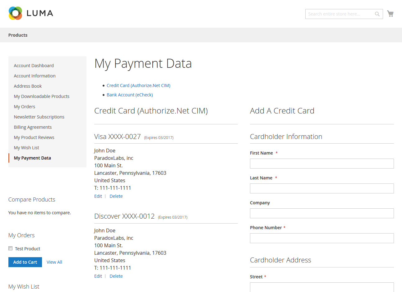 Authorize Cim Payment Module For Magento 2