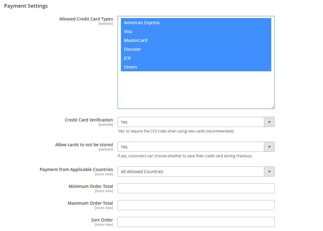 Authorize Net CIM for Magento 2