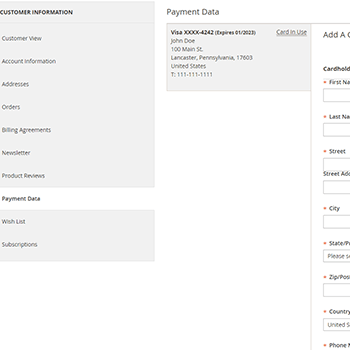 Stripe Payments for Magento 2