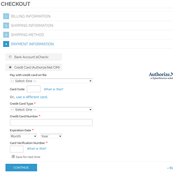 Authorize.Net CIM on Magento1 checkout